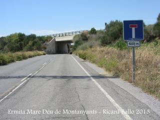 Ermita de la Mare de Déu de Montanyans – Castellet i la Gornal - Detall d'una part de l'itinerari.