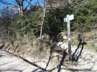 Ermita de Sant Corneli-Tavertet-Detall camí-Inici  drecera