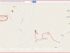 Ermita de Sant Ermengol – Els Prats de Rei - Itinerari - Captura de pantalla de Google Maps, complementada amb anotacions manuals.