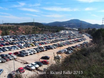 Vista del dipòsit municipal de vehicles, des de l'ermita de Sant Joan – Castellbisbal