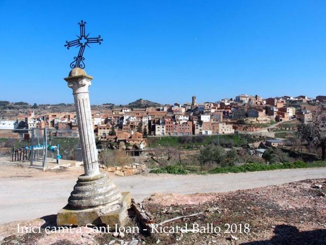 Inici del camí d'accés a l'Ermita de Sant Joan – Juncosa -