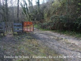 Ermita de Sant Joan – Riudaura - Detalls del camí
