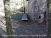 """Ermita de Sant Joan – Riudaura - Observi's que els bancs, els seients, són exclusivament per a personal """"masoquista"""""""