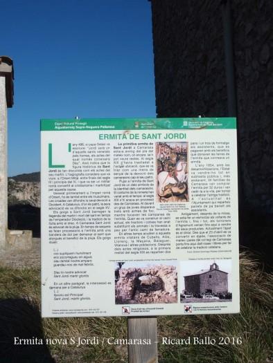 Ermita NOVA de Sant Jordi - Camarasa - Plafó informatiu situat al davant de l'ermita