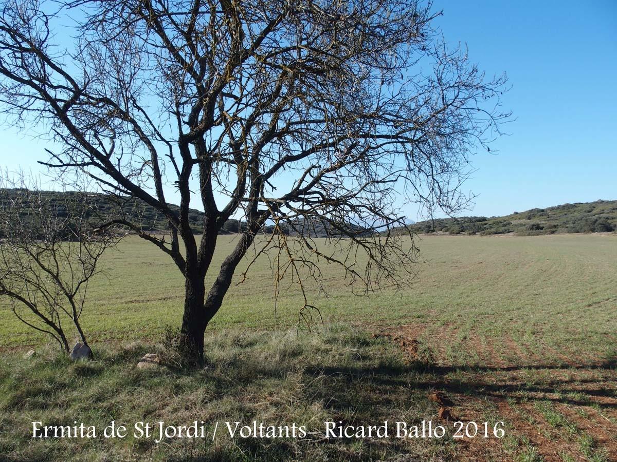 Vista dels voltants de l'ermita VELLA de Sant Jordi - Camarasa