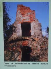 Ermita de Sant Llop – Vilobí d\'Onyar - Restes de la Torre de Telegrafia Òptica