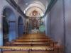 Ermita de Sant Marçal – Tàrrega / Urgell - Fotografia de l'interior, obtinguda adossant l'objectiu de la màquina de fotografiar al vidre de la porta