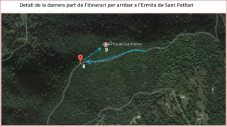 Camí d'accés a l'Ermita de Sant Patllari – Porqueres