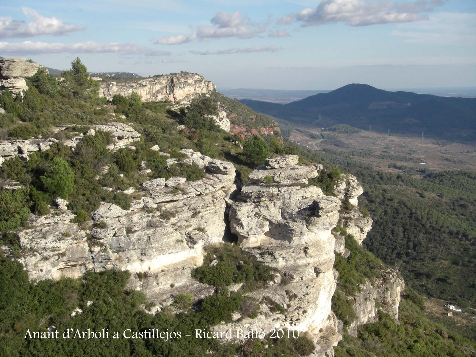 Vistes durant el recorregut des d'Arbolí a Castillejos