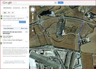 Ermita de Sant Romà - Guissona - Itinerari - Captura de pantalla de Google Maps.