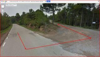Ermites de Sant Salvador del Quer – Súria - Itinerari - Sortida de la carretera B-423 e inici del camí de terra.
