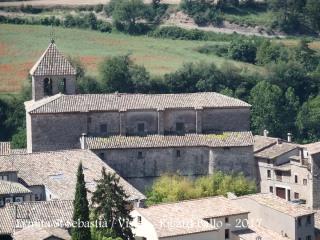 Vistes de l'Església parroquial de Sant Andreu des de l'Ermita de Sant Sebastià – Oristà