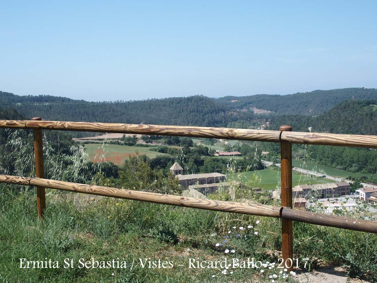 Vistes des de l'Ermita de Sant Sebastià – Oristà