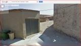 Ermita de Sant Simeó / Massoteres - Entrada al passatge on hi ha l'ermita. Captura de pantalla de Google Maps.