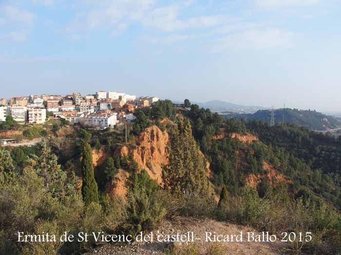 Vistes de l'entorn, des de l'Ermita de Sant Vicenç del Castell – Castellbisbal