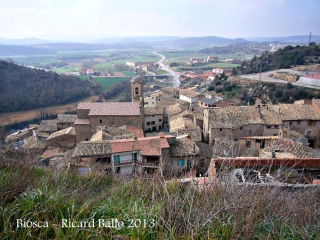 Vista de Biosca des de l'ermita de Santa Maria.