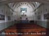 Ermita de Santa Perpètua – Gurb - Foto obtinguda introduint l'objectiu de la màquina de retratar per una petita obertura de la porta d'entrada