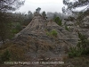 Una vista des del camí a l'Ermita de Santa Perpètua – Gurb / Estranya formació rocosa