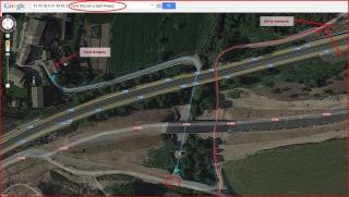 Camí d'accés a l'església de Sant Amanç - Rajadell - Itinerari - Captura de pantalla de Google Maps, complementada amb anotacions manuals.
