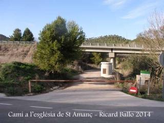 Camí d'accés a l'església de Sant Amanç - Rajadell