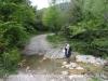 Camí d'accès a l'Església de Sant Andreu de Porreres – Vall de Bianya. En cas d'haver plogut en dies anteriors, potser seria convenient preveure la possibilitat de trobar tolls d'aigua importants