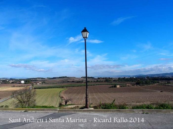 Vistes des de l'Església de Sant Andreu i Santa Marina – Sant Jaume dels Domenys