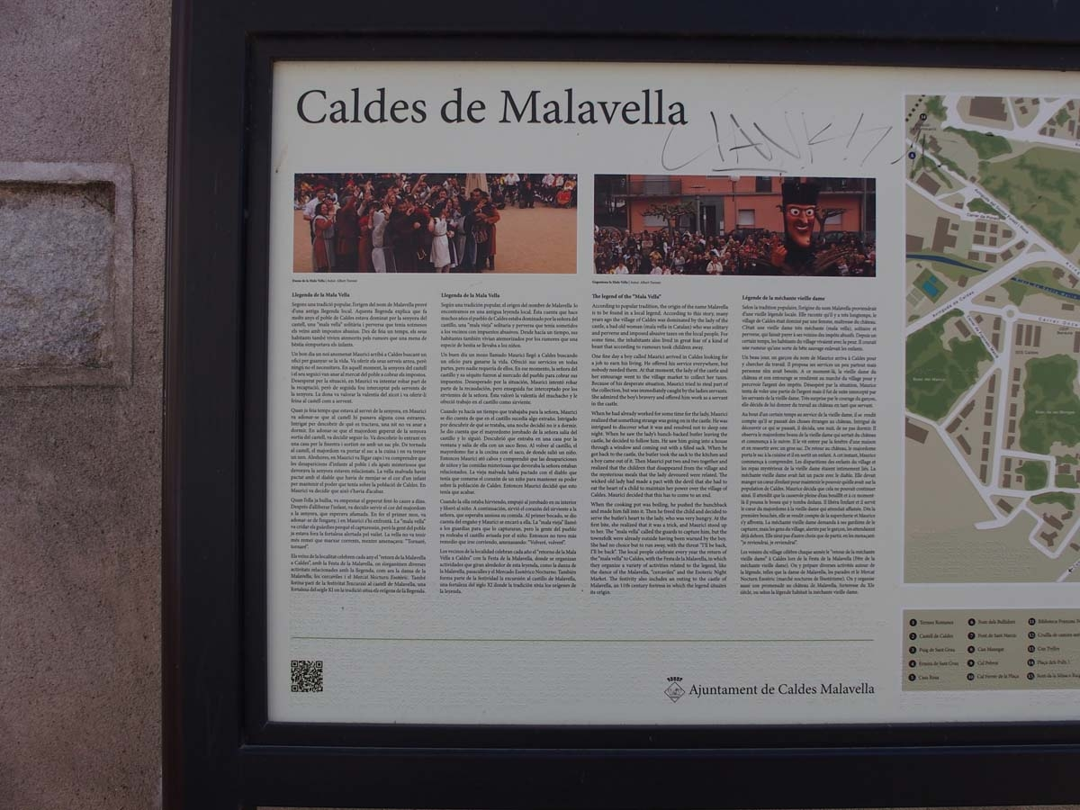 Església de Sant Esteve – Caldes de Malavella - Plafó informatiu situat a la vota de l\'església
