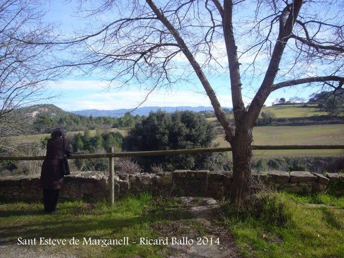 Vistes des de l'Església de Sant Esteve de Marganell
