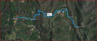 Església de Sant Esteve del Pujol de Planès – Montmajor - Itinerari - Captura de pantalla de Google Maps