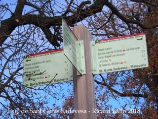 Camí d'accés a l'Església de Sant Genís Sadevesa – Sant Bartomeu del Grau