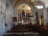 Església de Sant Iscle i Santa Victòria – Bàscara - Fotografia obtinguda adossant l'objectiu de la màquina de fotografiar al vidre de la porta d'entrada.