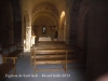 Església de Sant Iscle i Santa Victòria de Sauleda – Santa Coloma de Farners . Fotografia obtinguda a través de la petita obertura que hi ha a la porta d\'entrada.