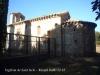 Església de Sant Iscle i Santa Victòria de Sauleda – Santa Coloma de Farners - La tanca metàl·lica envolta el cementiri.