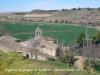 Vistes de d\'església de Sant Jaume de la Móra, des del castell de la Móra.