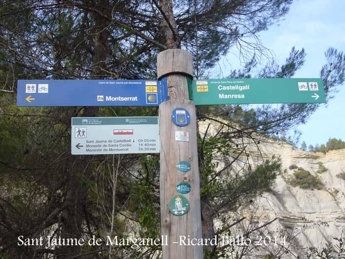Església de Sant Jaume de Marganell – Castellbell i el Vilar - Cartell indicador Camí de Sant Jaume.