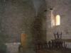 Església de Sant Jaume de Queralt – Bellprat - Interior - Fotografia obtinguda a traves de la reixa de la porta d\'entrada.
