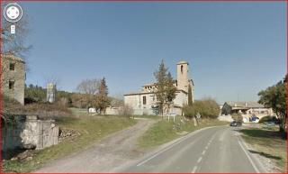 Església de Sant Jaume, també coneguda com l'Església del Pont de Cabrianes - Captura de pantalla de Google Maps.