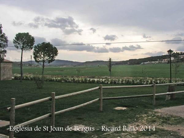 Vistes des de l'Església de Sant Joan de Bergús - Cardona