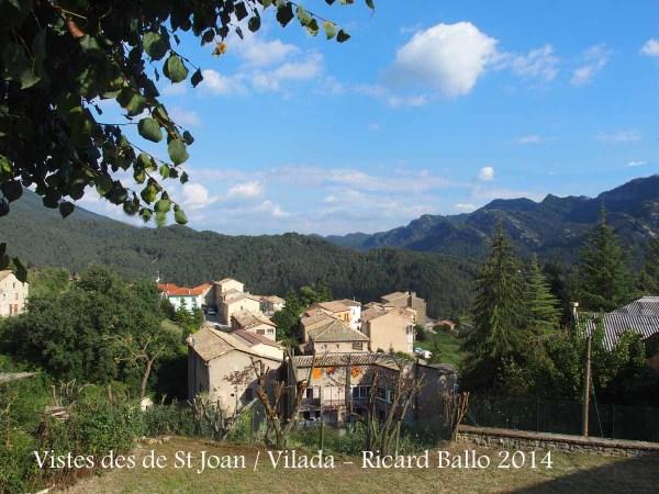 Vistes des de l'Església de Sant Joan – Vilada