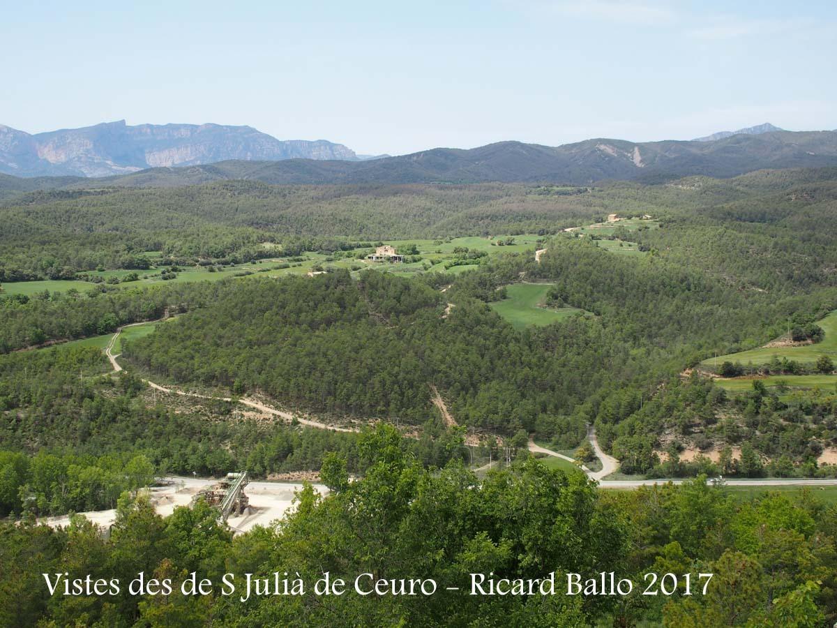 Vistes des de l'Església de Sant Julià de Ceuró – Castellar de la Ribera