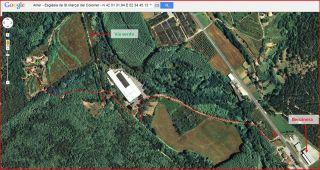 Església de Sant Marçal del Colomer – Amer - Itinerari - Captura de pantalla de Google Maps, complementada amb anotacions manuals.