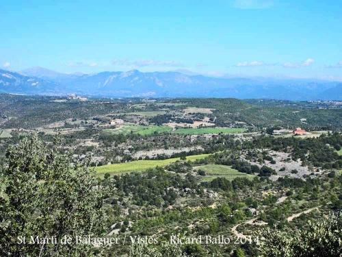 Vistes des de l'Església de Sant Martí de Balaguer – Viver i Serrateix