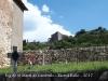 Església de Sant Martí de Cambrils – Odèn - En primer terme el cementiri. Al darrere, el castell de Cambrils