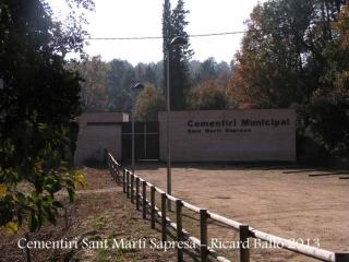 Església de Sant Martí Sapresa – Brunyola - Cementiri.