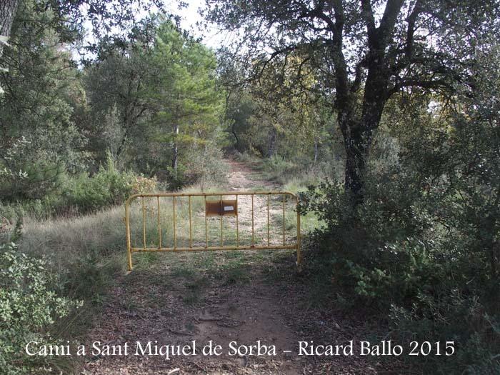 Església de Sant Miquel de Sorba – Montmajor - Camí d'accés