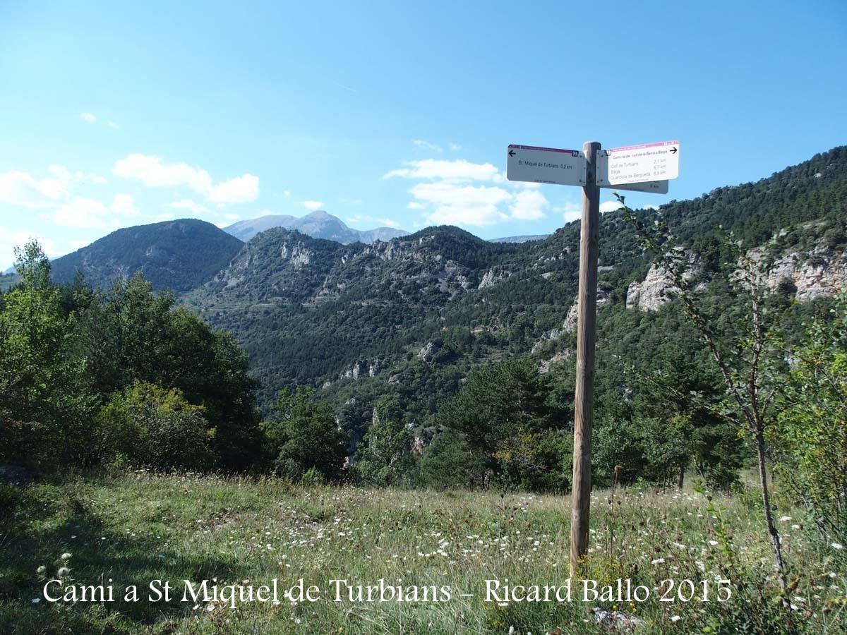 Camí a l'Església de Sant Miquel de Turbians – Gisclareny