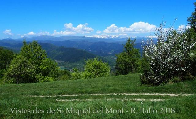 Vistes des de l'Església de Sant Miquel del Mont–La Vall de Bianya