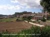 Vistes des de l\'església de Sant Miquel d'Òdena. Al fons, restes del castell d\'Òdena.