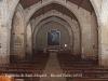 Església de Sant Miquel – Montblanc - Fotografia de l'interior obtinguda enganxant l'objectiu de la màquina de fotografiar al vidre del vestíbul de la porta d'entrada.