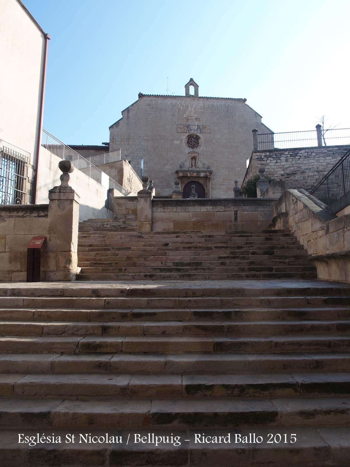 Església de Sant Nicolau – Bellpuig - Escalinata